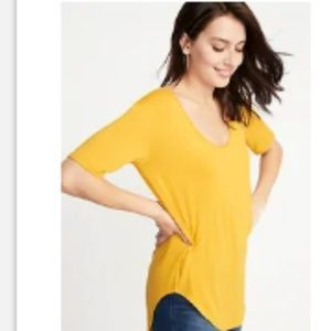 NWT Old Navy Luxe Curved Hem Tunic - Squash - XL